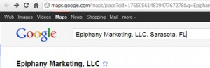 Example: Google Places URL
