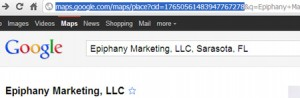 Google Places URL - Highlighted