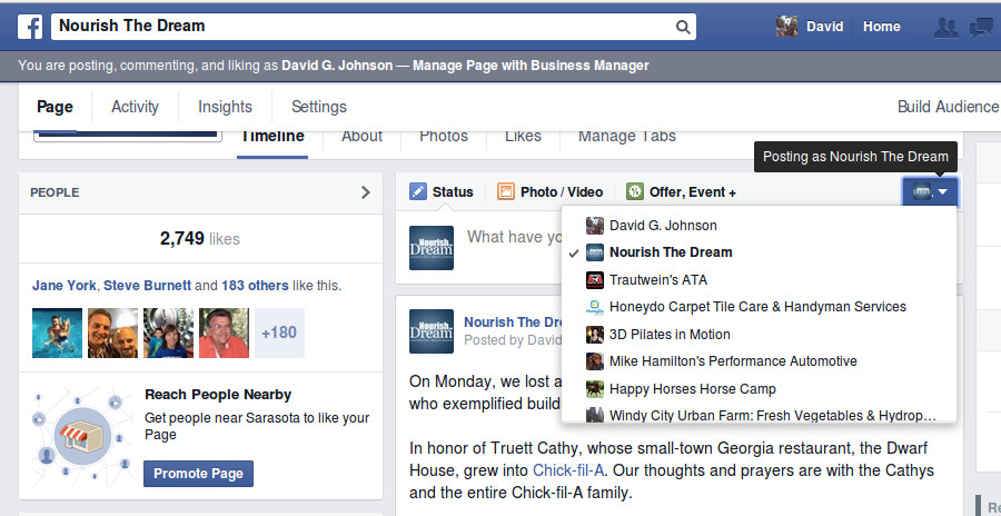 Facebook Simplifies Posting, Liking & Commenting as Page