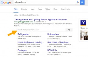 Yale Appliance Google Search Results
