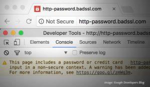 Not Secure Warning: Google Developers Blog
